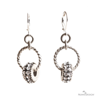 Beaded Christmas Earrings with Crystals
