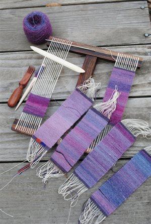 Tiny tapestries! Photo: Rebecca Mezoff.
