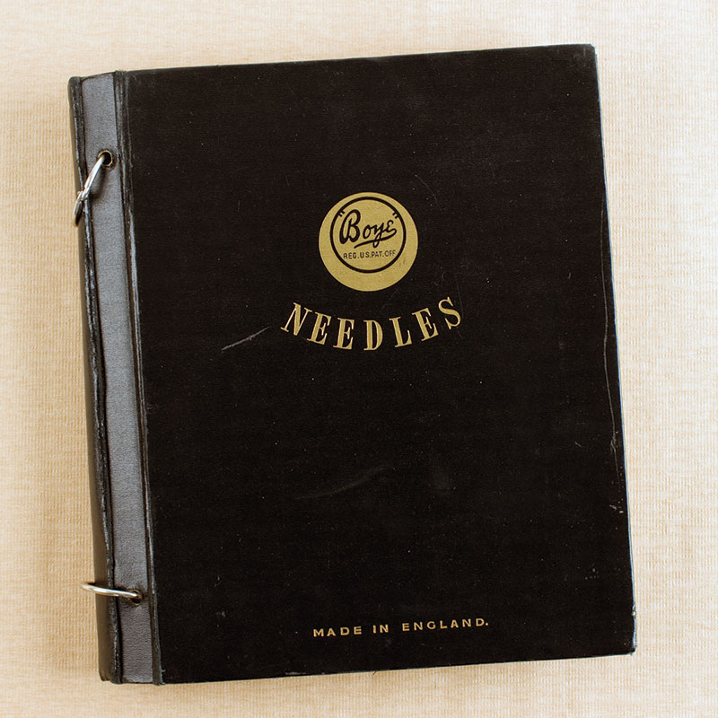 The Boye Needles salesman's book. Collection of the author.