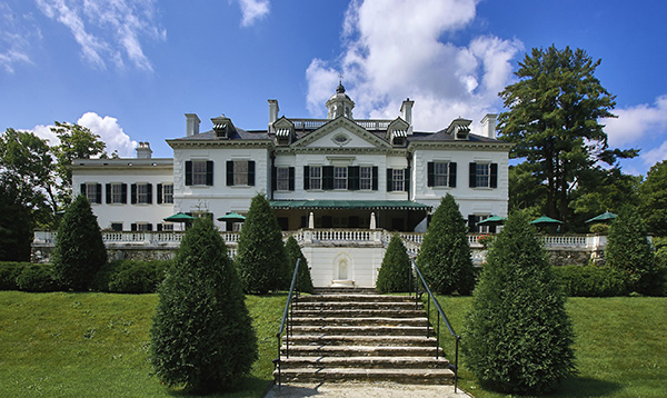 """The Mount, the house in Lenox, Massachusetts, designed by Edith Wharton. She wrote, """"There for ten years I lived and gardened and wrote contentedly."""" The estate is now a National Historic Landmark. Photo by Mahaux Charles/AGF/UIG via Getty Images."""