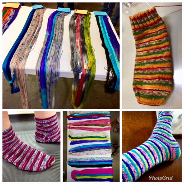 hand-dyeing yarn