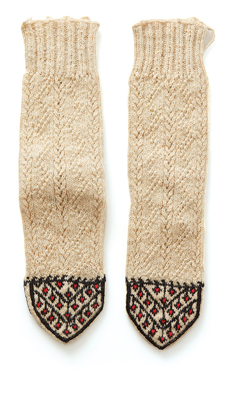 Traditional knitted Kurdish socks Barb Sobkoviak purchased during the years she lived in Iraq—1991–1997. Photos by George Boe.