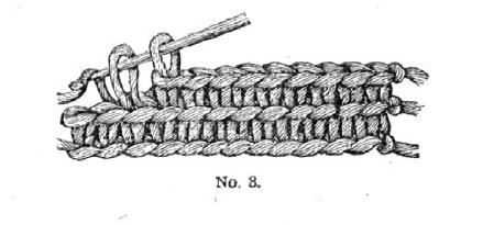 Weldon's illustration for short or double crochet.