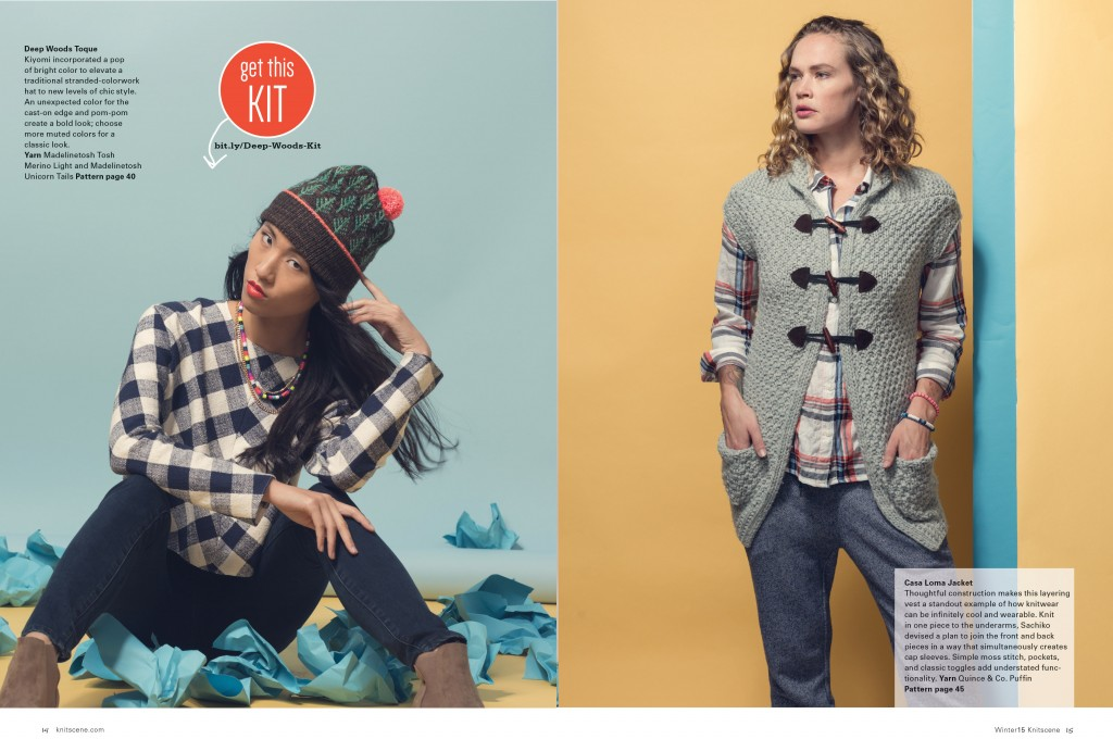 Knitscene Winter 2015 Hat Knitting Pattern Vest Knitting Pattern
