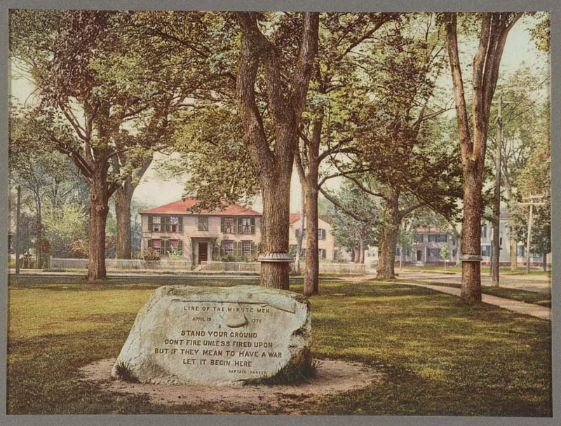 Line of the Minutemen Memorial on the Green in Lexington, Massachusetts. Detroit Publishing Company Photograph Collection, Library of Congress Prints and Photographs Division, Washington, D.C. Photograph courtesy of the Library of Congress Prints and Photographs Division.