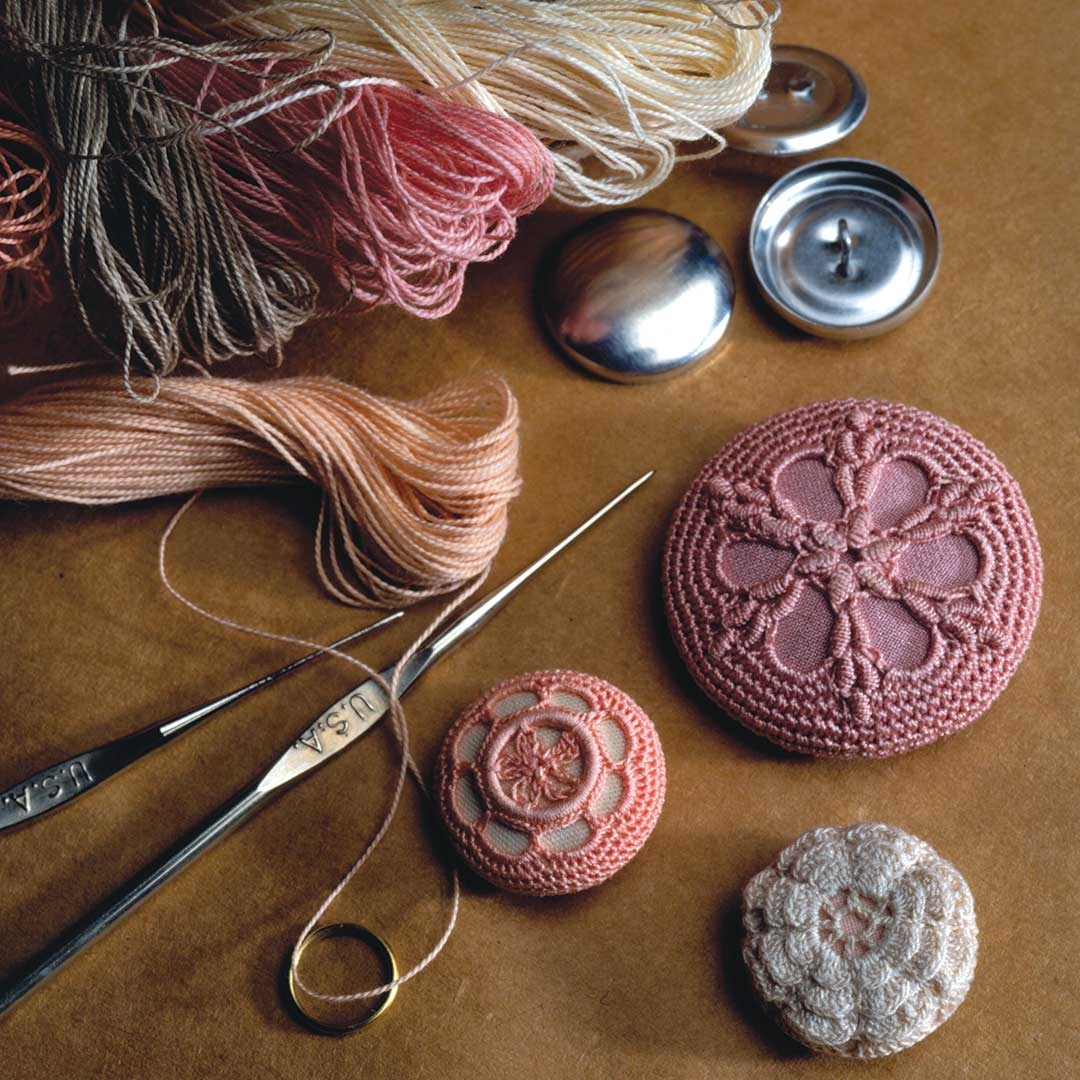 crocheted buttons