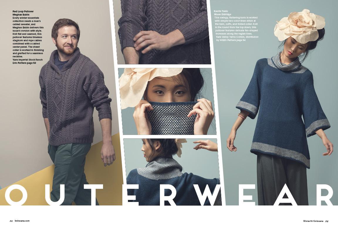 Knitscene Winter 2015 Mens Knitting Pattern Linen Stitch Sweater Pattern