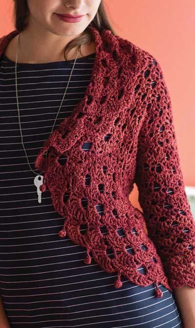 Colorful Crochet Lace: Lace Crochet Jacket