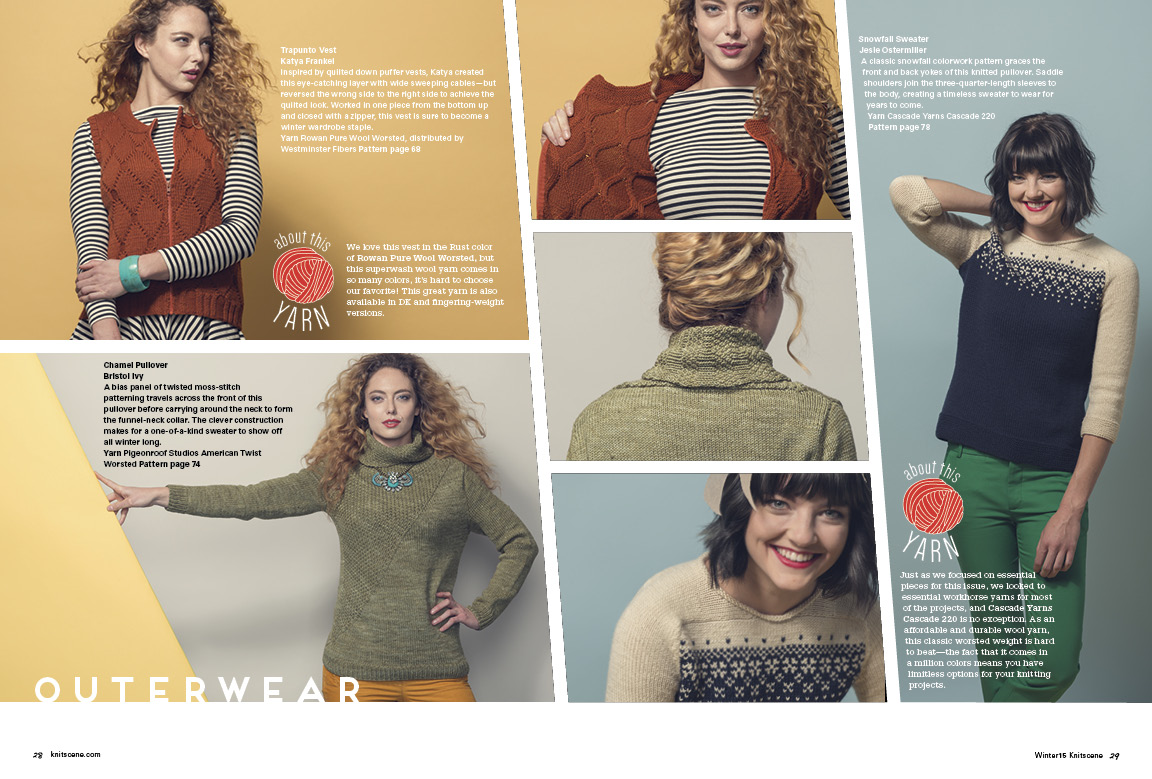 Knitscene Winter 2015 Vest Knitting Pattern Pullover Knitting Pattern