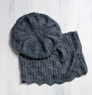 Knit a beret and cowl with this luxurious and ethically produced Peace Silk yarn.