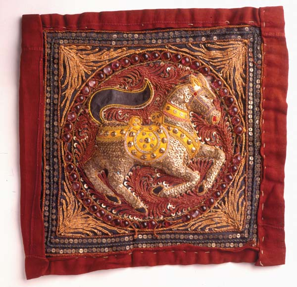sequin tapestry horse