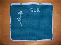 my tunisian crochet laptop cover