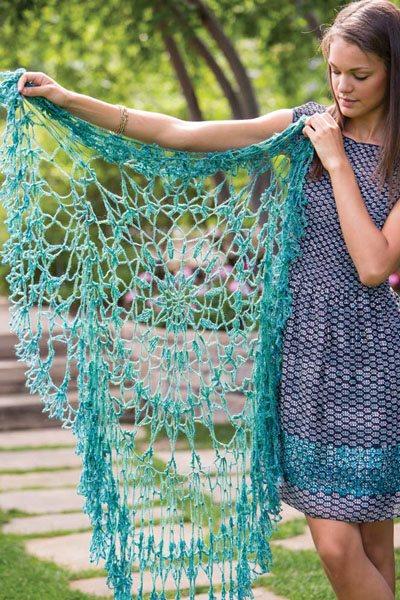 Colorful Crochet Lace: Circular Crochet Shawl