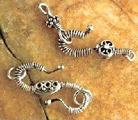 sterling silver coild wire handmade S clasps