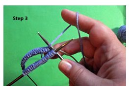 Learn magic loop knitting, step 3