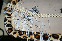 Learn how to update vintage jewelry the right way such as this beaded necklace example.