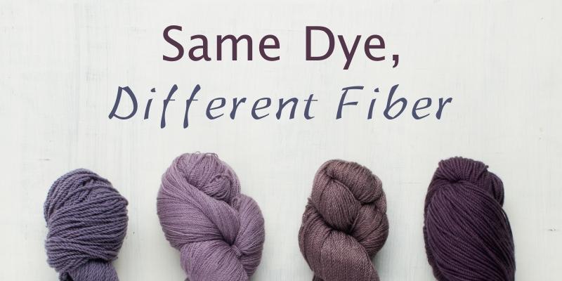 Case Study: Same Dye, Different Fiber