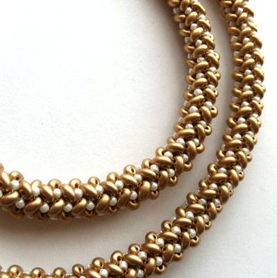 herringbone beaded rope
