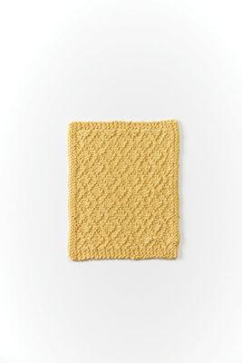 Diamonds Swatch-Cloth knitting pattern designed by Lorna Miser