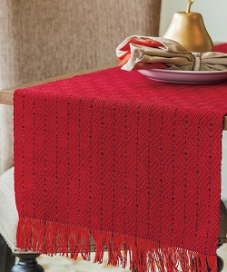 A gorgeous wintery runner like the Diamonds in Winter Runner is perfect all winter long. Weave your own with the Holiday Weaving Pattern Pack!