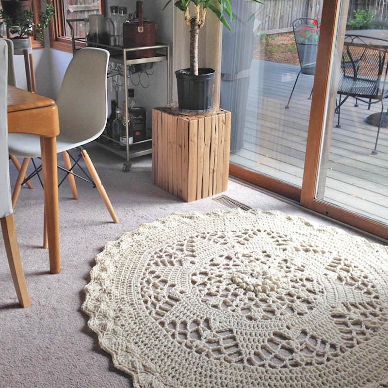 Finally Finished My Crochet Mandala Rug In Chunky Yarn Interweave