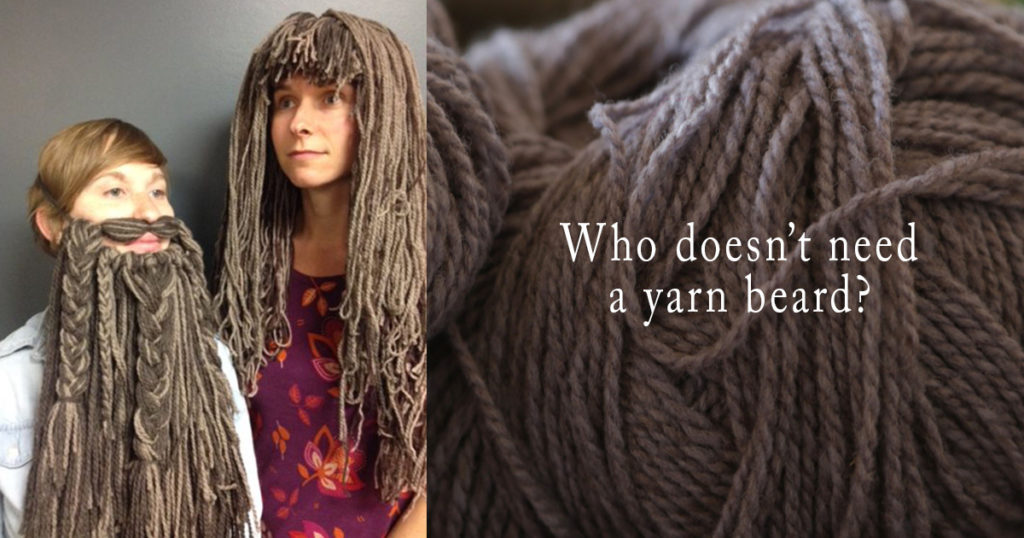 Yarn Wigs and Beards for Halloween Costumes!