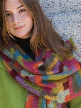 You'll love this free knitting pattern that includes a modern, knitted quilt wrap scarf, as seen on Knitting Daily TV Episode 105.