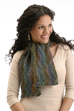 This gorgeous knitted shawl, titled Ballet Lace Scarf, uses thin yarn so you can show off your individuality by playing with the colorways and shaping!
