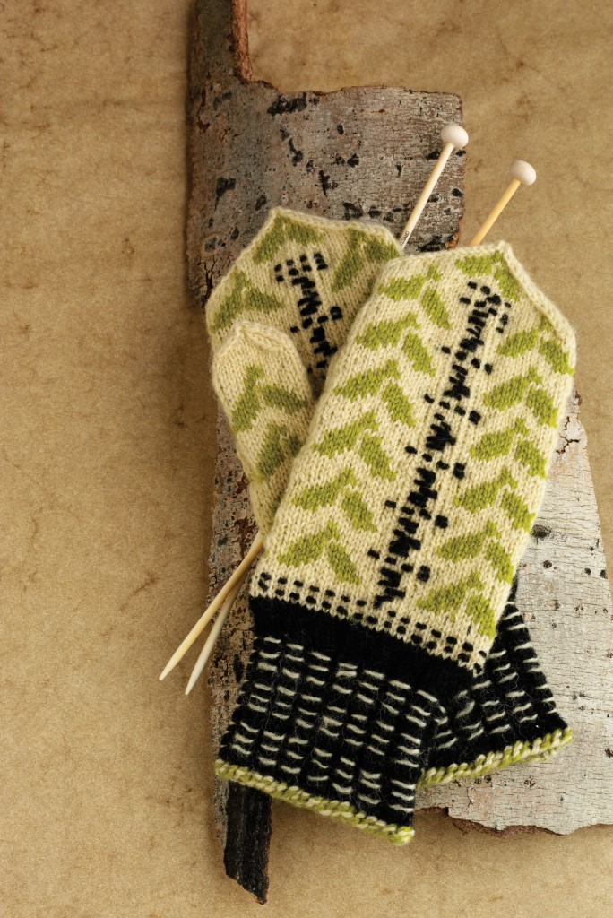 The Birch Mittens are inspired by Latvian mittens