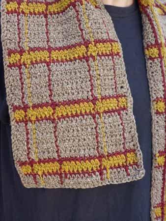 Men's Crochet Scarf