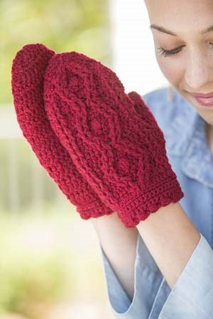 Cable Crochet Mittens