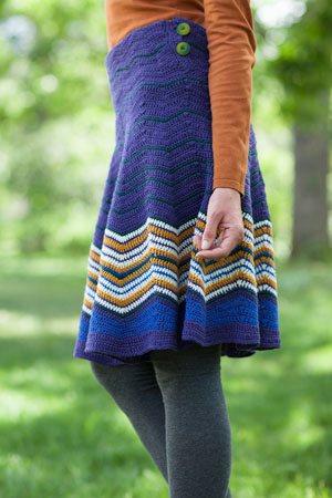 Crochet Striped Skirt