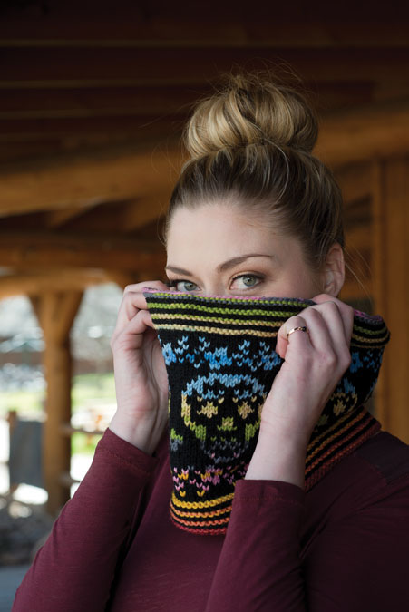 day of the dead cowl knitting pattern