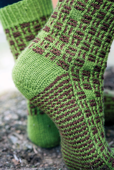 byzantine tile socks knitting pattern
