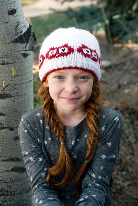 Hoot Sweet Hat & Mitts Knitting Pattern