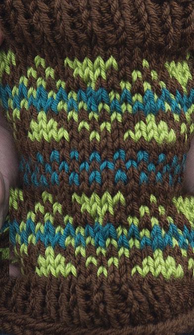 Chevron & Stripes Cowl Knitting Pattern