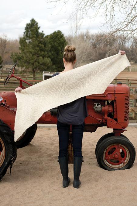Parallelogram Wrap Knitting Pattern