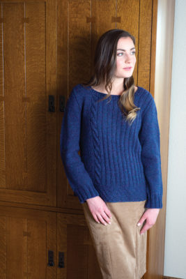 Barcelona Pullover knitting pattern designed by Quenna Lee