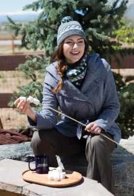 Nordic Winter Hat & Cowl Set knitting pattern designed by Melissa Metzbower
