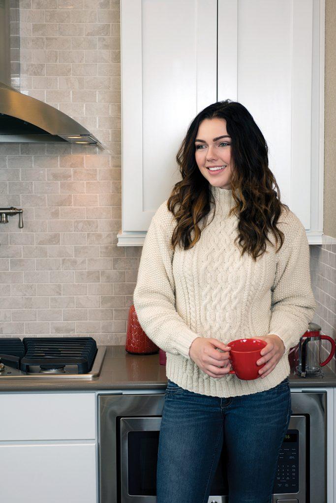 Winter Wonderland Aran Sweater knitting pattern designed by Melissa Leapman