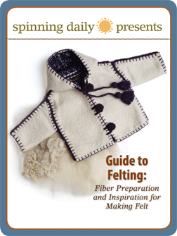 Learn how to felt fiber and felt yarn in this exclusive Guide to Felting eBook that discusses fiber preparation and inspiration for making felt.