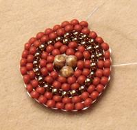 spiral circular brick stitch beading