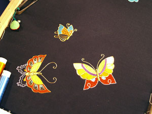 Japanese Embroidered Butterfly - Needle Arts Studio