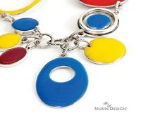 opaque colored resin jewelry from Nunn Design