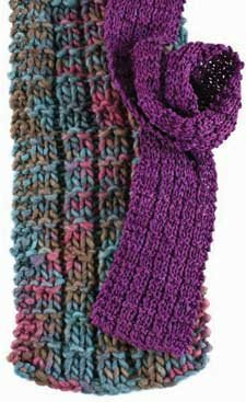 Learn how to knit this free knitting pattern that involves Vicki Square's Universal Knitted Scarf 'experiment' that you'll love.