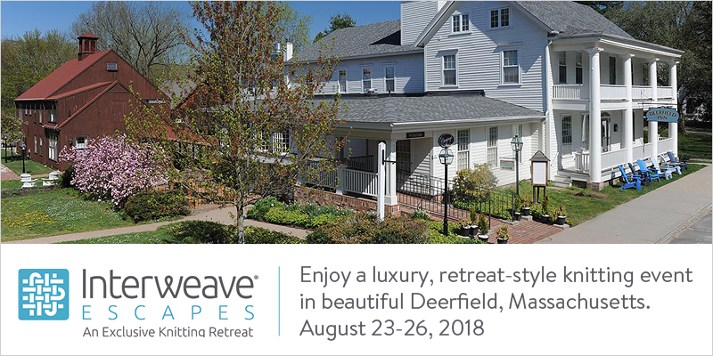 Join Interweave Escapes in Deerfield, Massachusetts August 23 – 26, 2018 with Instructor Kate Atherley