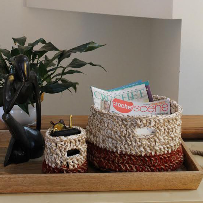 Crochet Baskets to Put By Your Front Door
