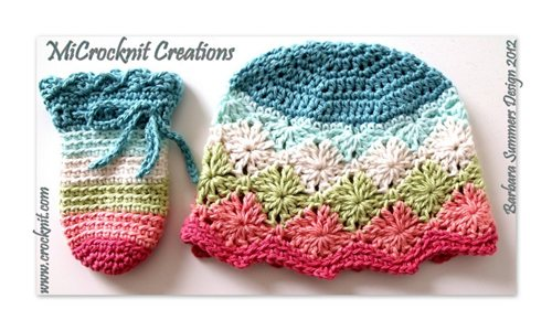 Crochet Baby Hat And Mittens Rainbow Interweave