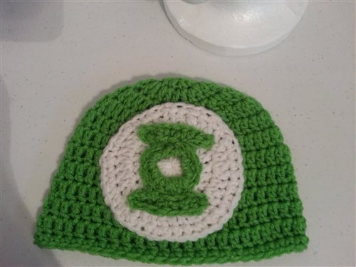 40c59bafb1a Green Lantern Superhero Logo Beanie Hat Crochet Pattern