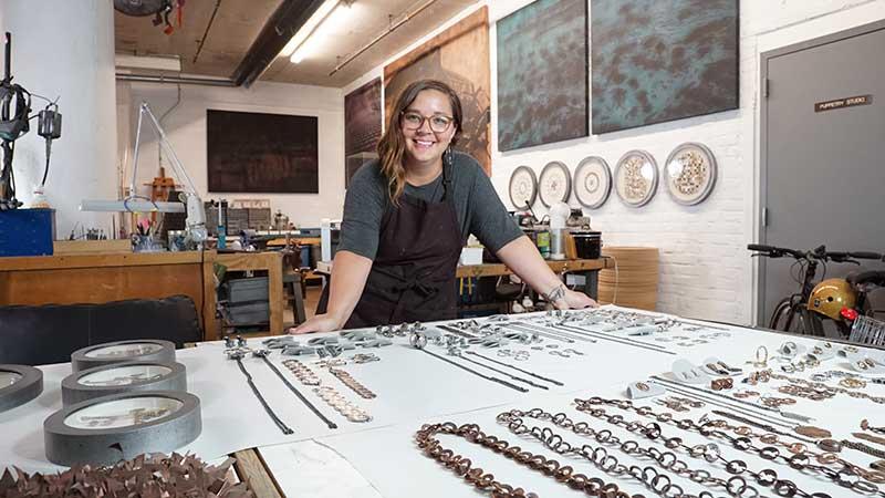 Soldering maven and artist Stacy Lee Webber